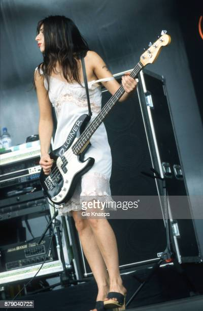 Paz Lenchantin A Perfect Circle performing on stage Rock Werchter Festival Werchter Belgium 2nd July 2000