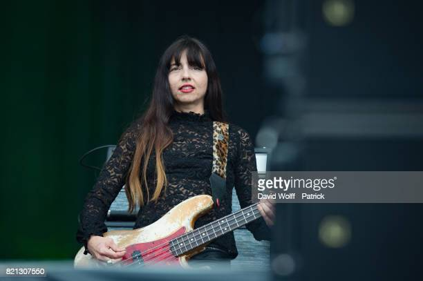 Paz Lenchantin from The Pixies performs during first Lollapalooza Festival in France at Hippodrome de Longchamp on July 23 2017 in Paris France