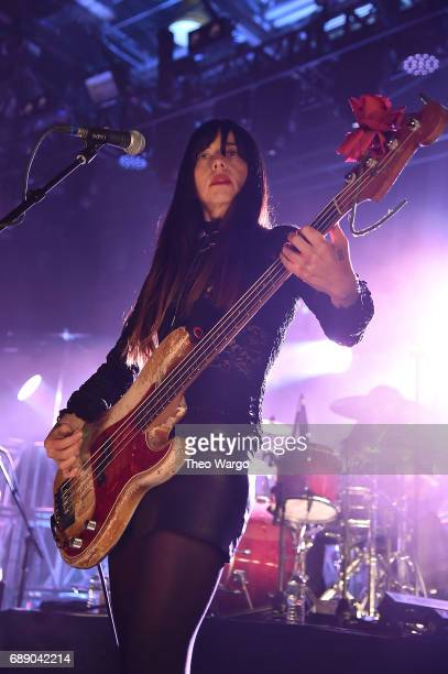 Paz Lenchantin of Pixies performs at Brooklyn Steel on May 26 2017 in New York City