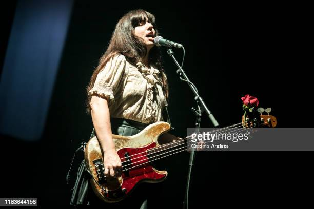 Paz Lenchantin of Pixies performs on stage at Coliseum A Coruña on October 26 2019 in A Coruna Spain