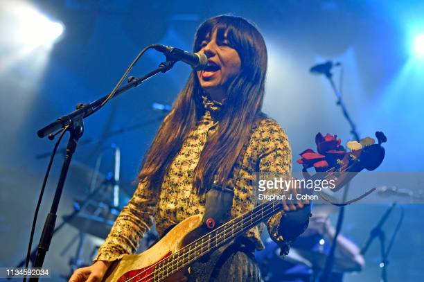 Paz Lenchantin of the Pixies performs at KFC YUM Center on March 08 2019 in Louisville Kentucky