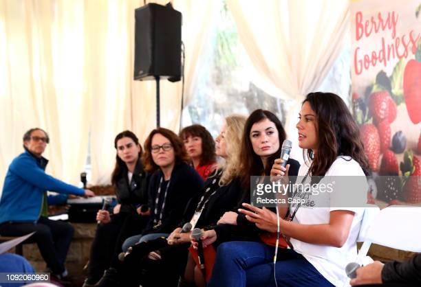 Paz Leon Lis Bartlett Eva Spreitzhofer Patricia Rozema Vanessa Filho and Danielle Ryan speak at the Women Filmmakers Seminar during the 34th Santa...
