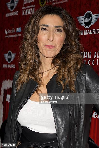 Paz Padilla attends Miguel de Molina al Desnudo premiere at the Santa Isabel Theater on November 4 2014 in Madrid Spain