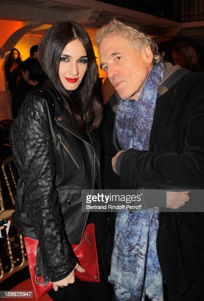 Paz Vega and Abel Ferrara attend the JeanPaul Gaultier Spring/Summer 2013 HauteCouture show as part of Paris Fashion Week at on January 23 2013 in...