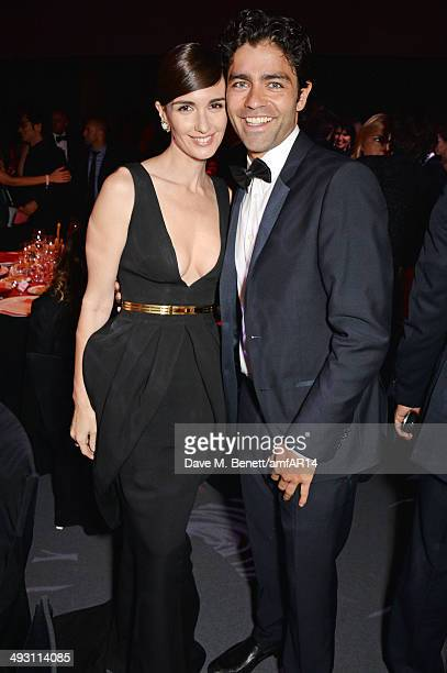 Paz Vega and Adrian Grenier attend amfAR's 21st Cinema Against AIDS Gala presented by WORLDVIEW BOLD FILMS and BVLGARI at Hotel du CapEdenRoc on May...