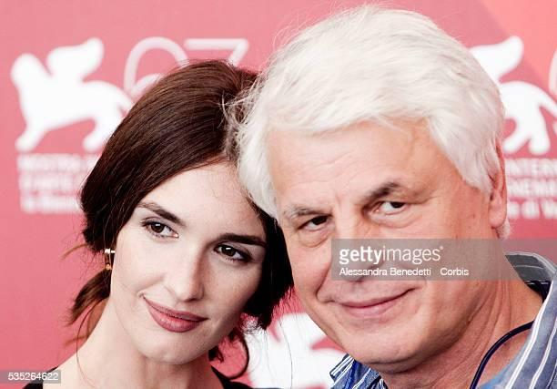 Paz Vega and Michele Placido attend the photocall of movie Vallanzasca presented in competiiton at the 67th Venice Film Festival