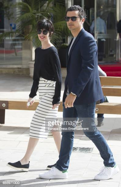 Paz Vega and Orson Salazar are seen on March 18 2017 in Malaga Spain