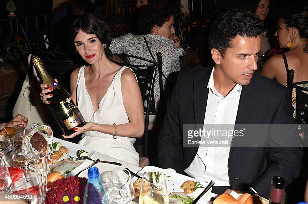 Paz Vega and Orson Salazar attend the 60th Taormina Film Fest on June 20 2014 in Taormina Italy