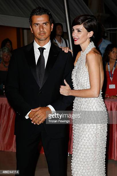 Paz Vega and Orson Salazar attend the opening dinner during the 72nd Venice Film Festival on September 2 2015 in Venice Italy