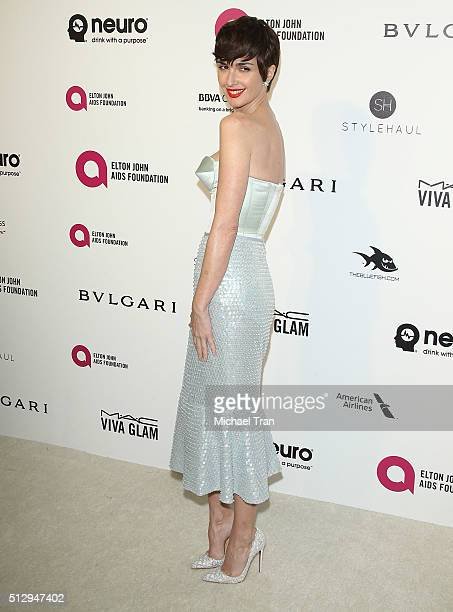 Paz Vega arrives at the 24th Annual Elton John AIDS Foundation's Oscar viewing party held at West Hollywood Park on February 28 2016 in West...