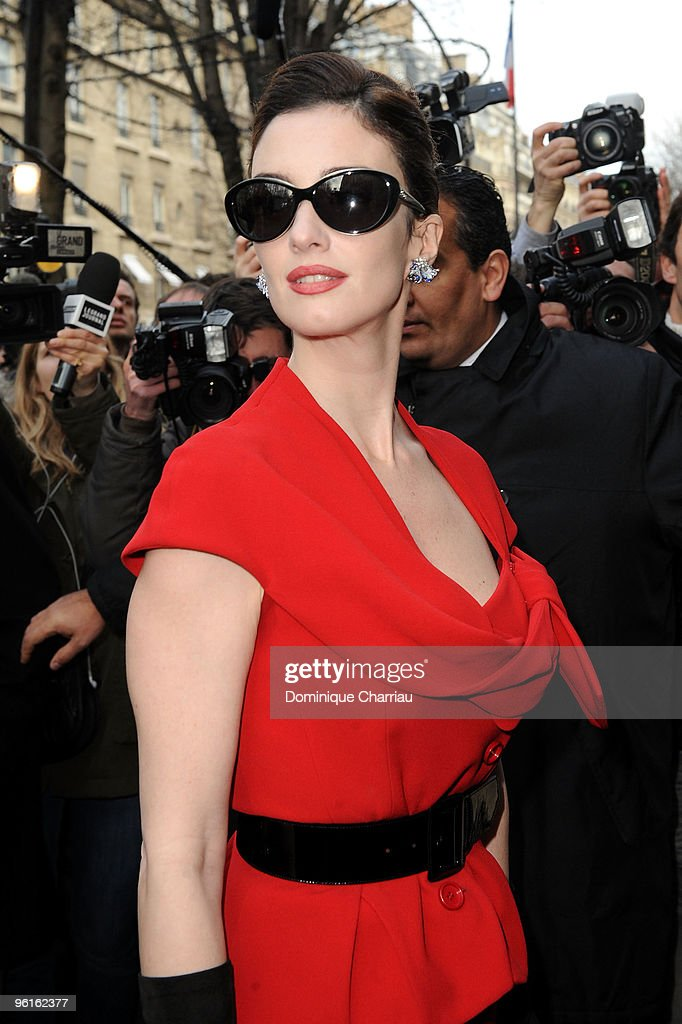 Paz Vega arrives at the Christian Dior Haute-Couture show as part of the Paris Fashion Week Spring/Summer 2010 on January 25, 2010 in Paris, France.