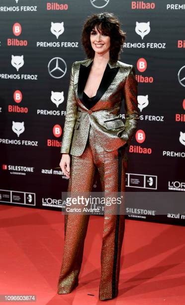 Paz Vega attends during Feroz awards red carpet on January 19 2019 in Bilbao Spain