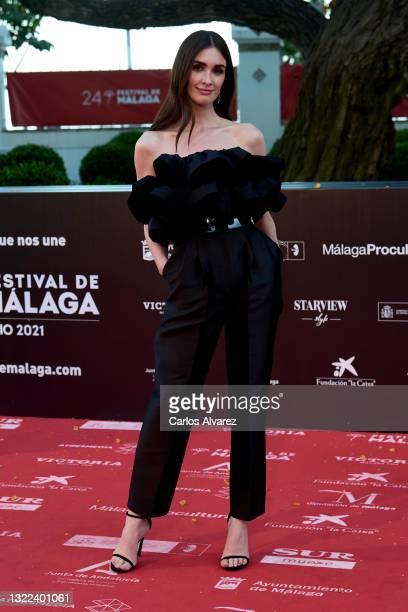 Paz Vega attends 'El Sustituto' premiere during the 24th Malaga Film Festival at the Miramar Hotel on June 07, 2021 in Malaga, Spain.