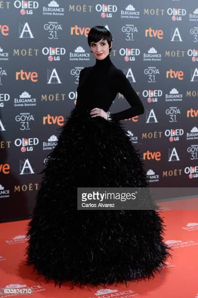 Paz Vega attends Goya Cinema Awards 2017 at Madrid Marriott Auditorium on February 4 2017 in Madrid Spain