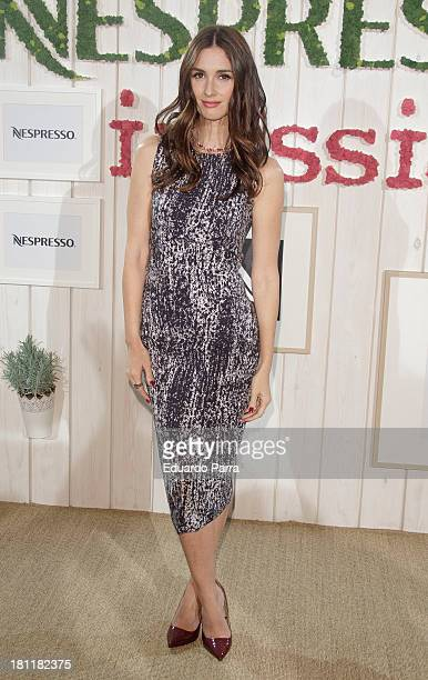 Paz Vega Attends Inissia by Nespresso party photocall at Neptuno palace on September 19 2013 in Madrid Spain