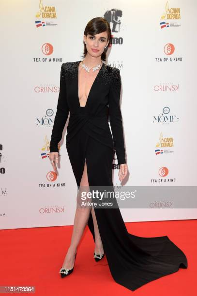 Paz Vega attends Millennium Media Dinner And Cocktail Reception In Honor Of Sylvester Stallone on May 24 2019 in Cannes France