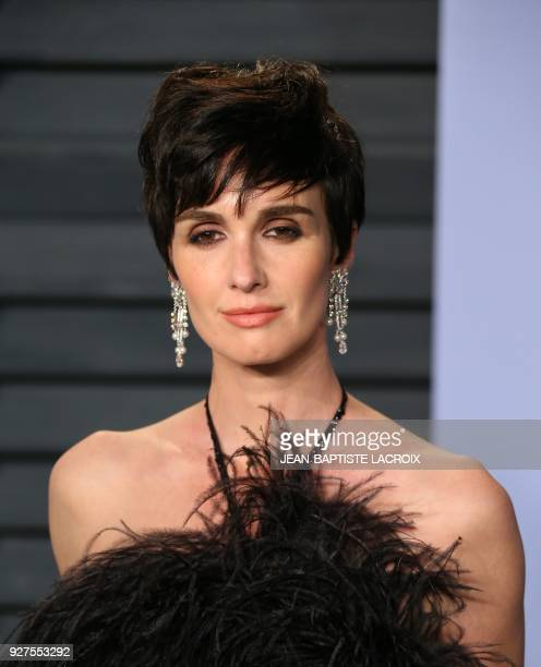 Paz Vega attends the 2018 Vanity Fair Oscar Party following the 90th Academy Awards at The Wallis Annenberg Center for the Performing Arts in Beverly...