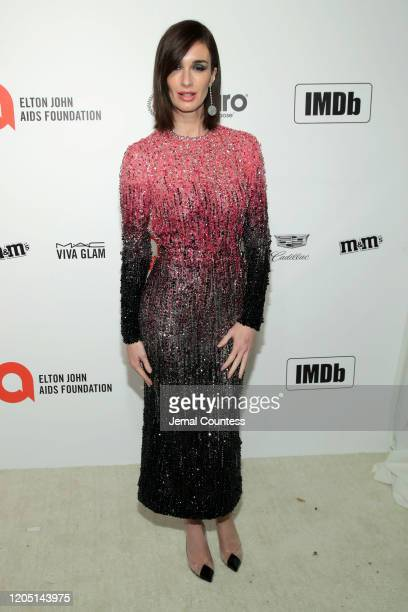 Paz Vega attends the 28th Annual Elton John AIDS Foundation Academy Awards Viewing Party sponsored by IMDb Neuro Drinks and Walmart on February 09...