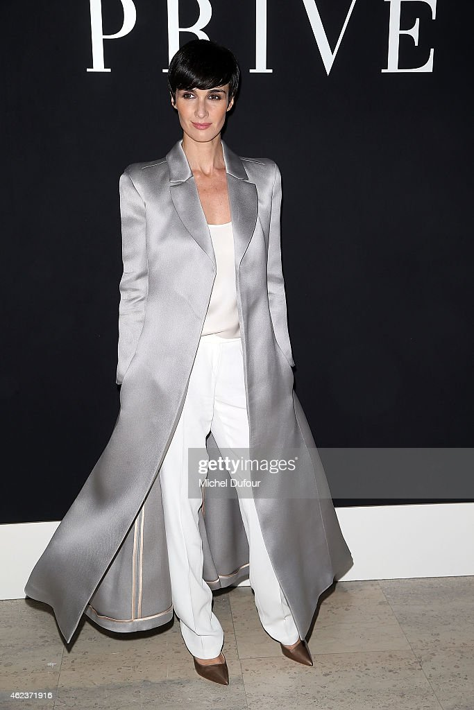 Paz Vega attends the Giorgio Armani Prive show as part of Paris Fashion Week Haute-Couture Spring/Summer 2015 on January 27, 2015 in Paris, France.