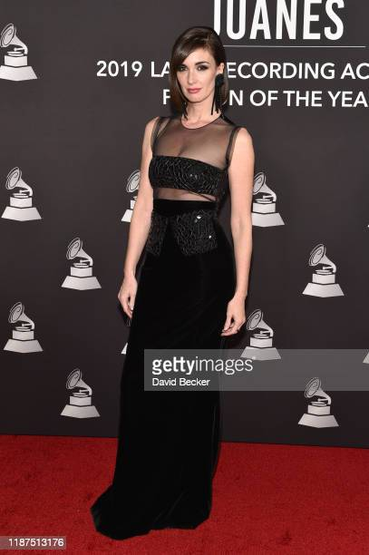 Paz Vega attends the Latin Recording Academy's 2019 Person of the Year gala honoring Juanes at the Premier Ballroom at MGM Grand Hotel & Casino on...