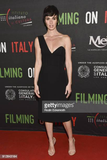 Paz Vega attends the On The Milky Road Los Angeles Premiere at Harmony Gold Theatre on January 31 2018 in Los Angeles California