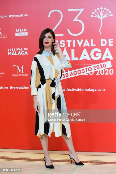 Paz Vega attends the photocall of the third day of the Malaga Film Festival 2020 on August 23, 2020 in Malaga, Spain.