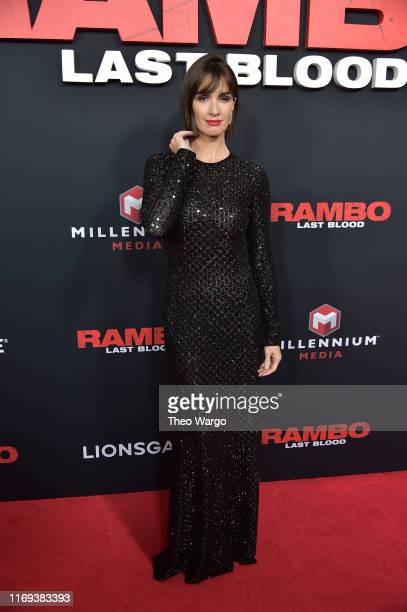 Paz Vega attends the Rambo Last Blood Screening Fan Event at AMC Lincoln Square Theater on September 18 2019 in New York City
