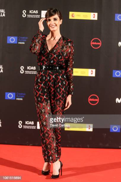 Paz Vega attends the Seville Film Festival to collect the prize for his professional career on November 14 2018 in Seville Spain