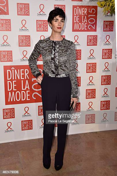 Paz Vega attends the Sidaction Gala Dinner 2015 at Pavillon d'Armenonville on January 29 2015 in Paris France