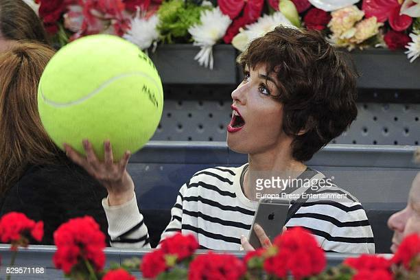 Paz Vega attends the tennis match during 8th day of the Mutua Madrid Open tennis tournament at La Caja Magica on May 7 2016 in Madrid Spain