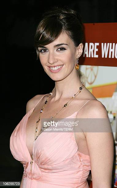 Paz Vega during '10 Items or Less' Los Angeles Premiere Arrivals at Paramount Theater in Hollywood California United States