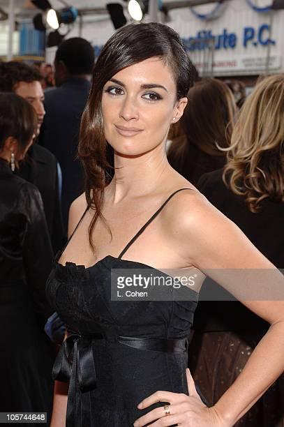Paz Vega during Columbia Pictures' 'The Legend of Zorro' Los Angeles Premiere Red Carpet at Orpheum Theatre in Los Angeles California United States
