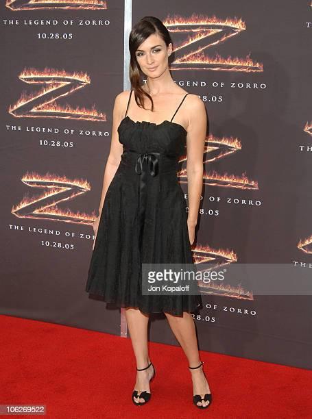 Paz Vega during 'The Legend of Zorro' Los Angeles Premiere Arrivals at Orpheum Theatre in Los Angeles California United States