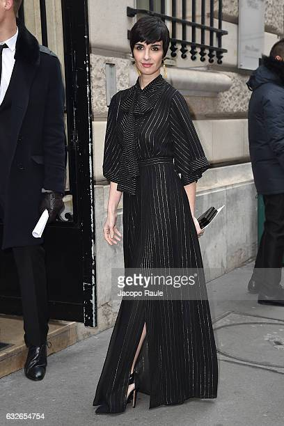 Paz Vega is seen arriving at Elie Saab Fashion Show during Paris Fashion Week Haute Couture Spring Summer 2017 on January 25 2017 in Paris France