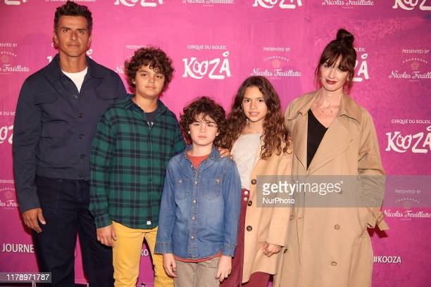 Paz Vega Orson Salazar attends the Cirque du Soleil 'Kooza' photocall at Escenario Puerta del Angel in Madrid Spain on Oct 29 2019