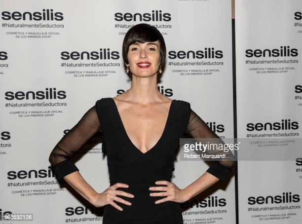 Paz Vega poses during a photocall for the Sensilis 25th Anniversary at the Hotel Espana on October 23 2017 in Barcelona Spain