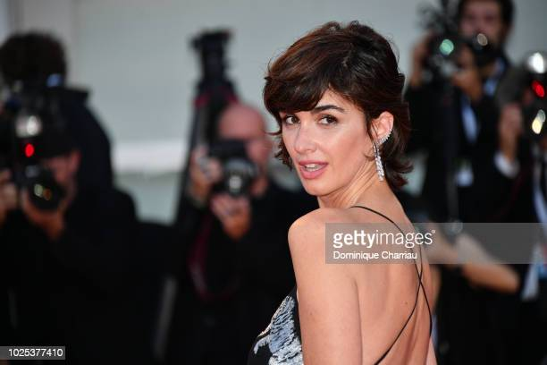 Paz Vega walks the red carpet ahead of the 'Roma' screening during the 75th Venice Film Festival at Sala Grande on August 30 2018 in Venice Italy