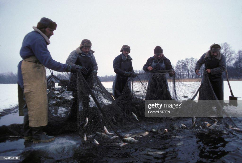 Pêche sur la glace du lac Wigry : News Photo