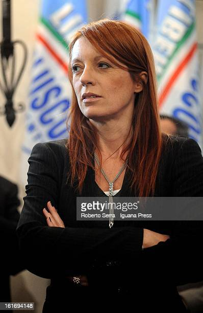 Pdl Parliamentary candidate and ex Italian Minister of Tourism, Michela Vittoria Brambilla attends a meeting held by National Secretary of PdL...
