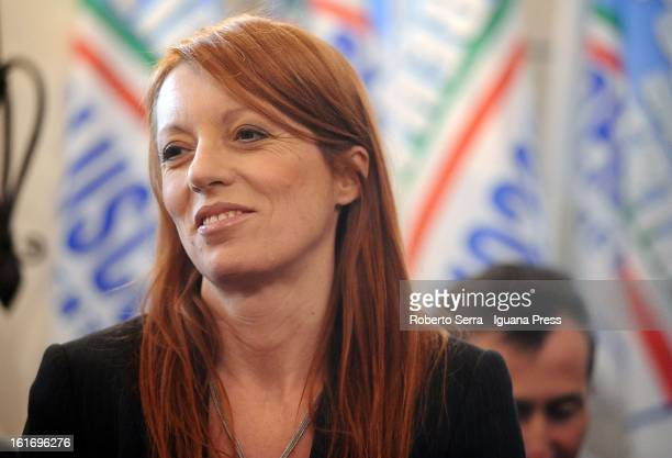 Pdl Parliamentary candidate and ex Italian Minister of Tourism Michela Vittoria Brambilla attends a meeting held by National Secretary of PdL...