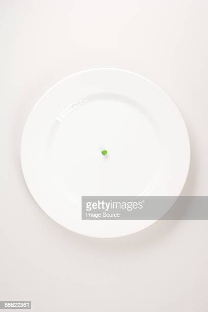 A pea on a plate