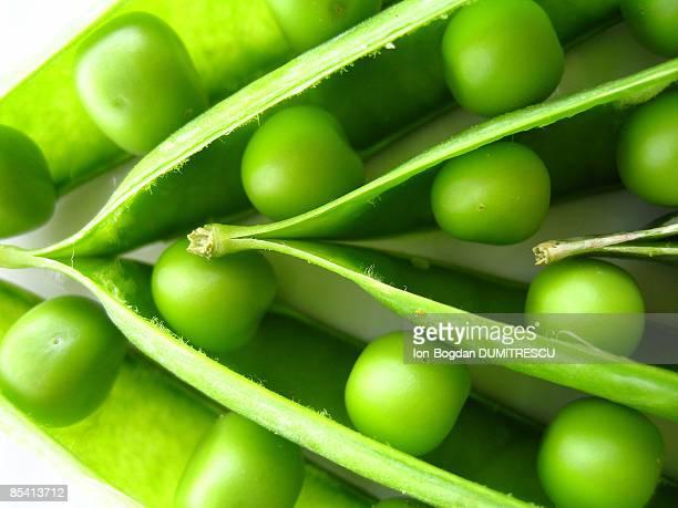 Pea pods, close-up