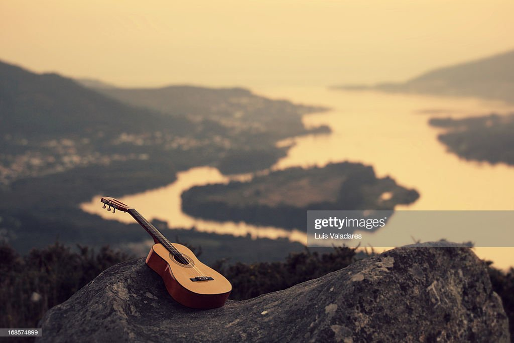 Peace and music : Stock Photo