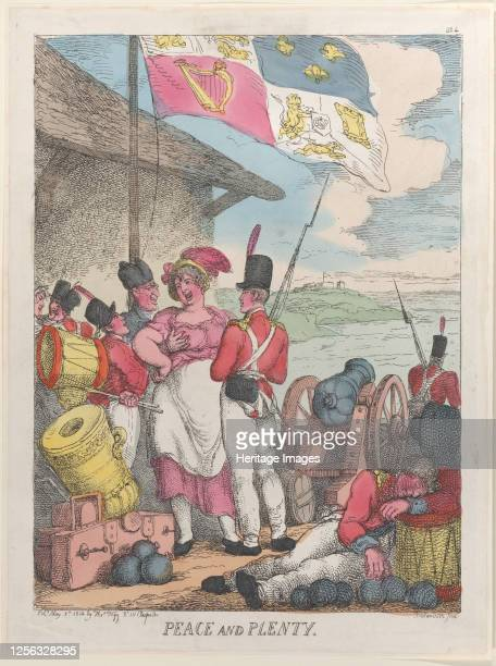 Peace and Plenty March 8 1814 Artist Thomas Rowlandson