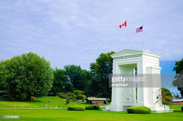 Peace Arch Park at United States and Canada border