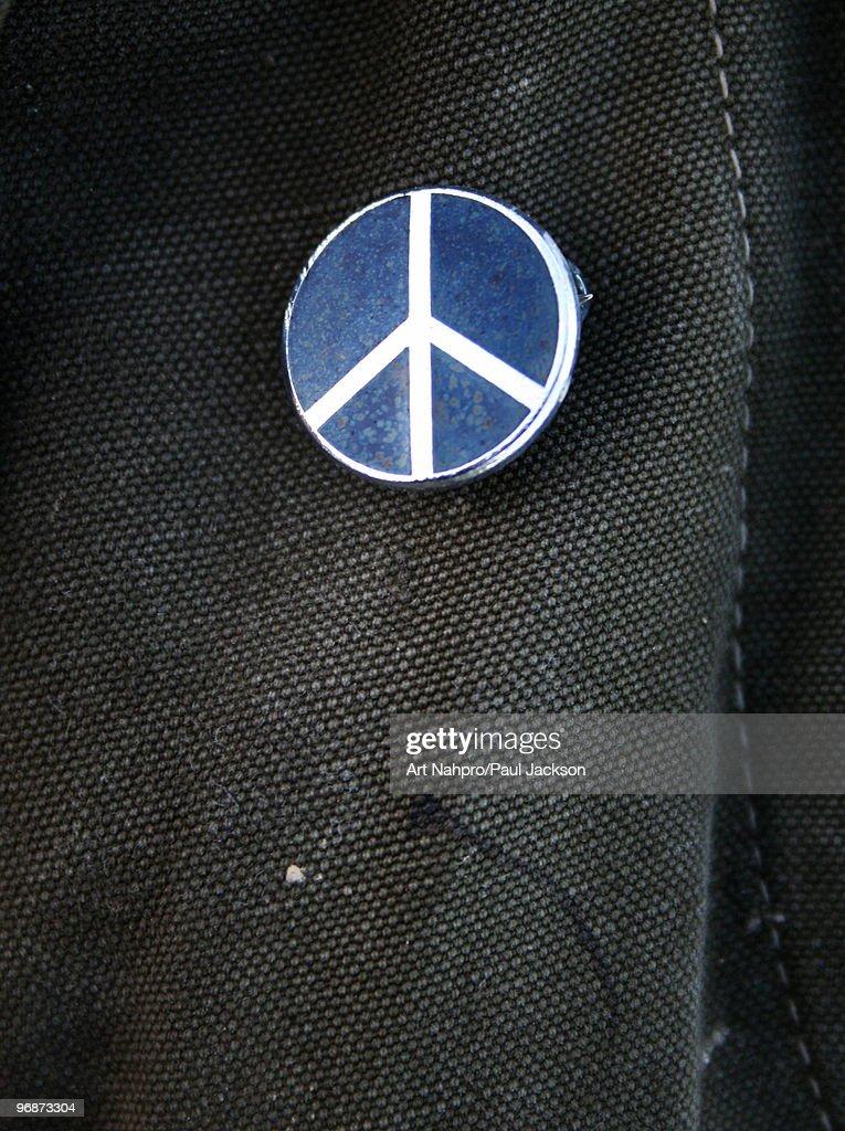 CND Peace Badge : Foto de stock