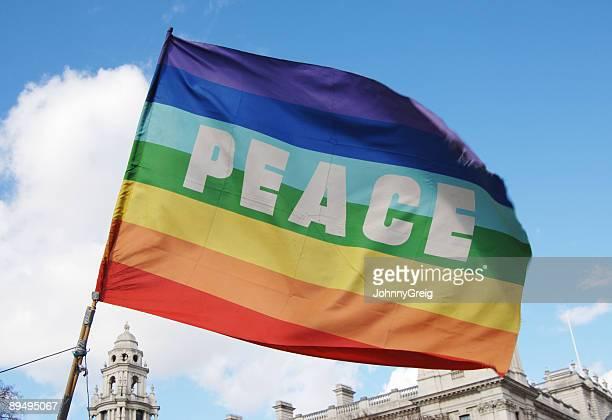 drapeau de la paix - symbole de la paix photos et images de collection