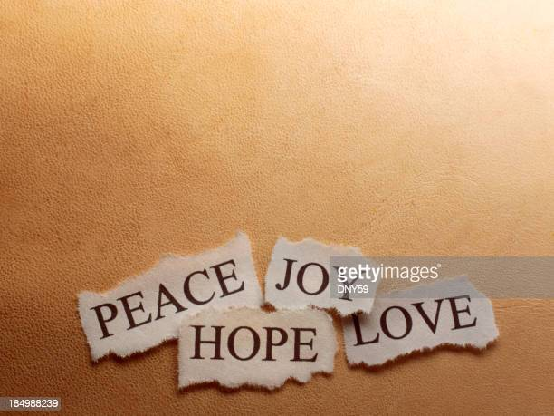Peace, Hope, Joy, Love