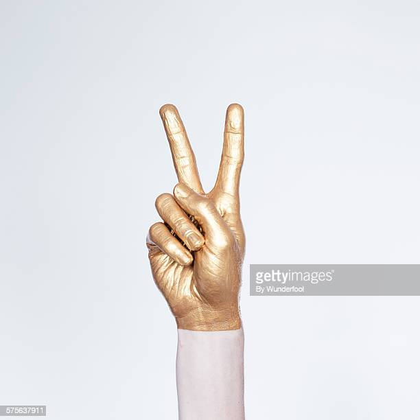 Peace in gold