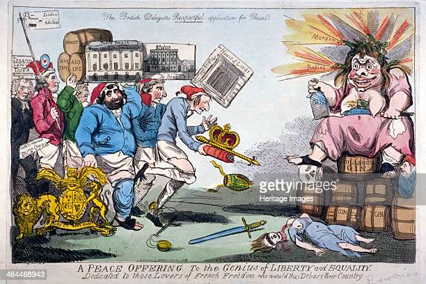 'A Peace Offering to the Genius of Liberty and Equality' 1794 Whigs offering gifts to France A procession consisting of Charles Stanhope bearing...